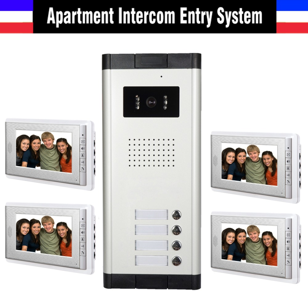 hot sale apartment intercom system 7 inch monitor 4