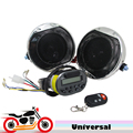 Chrome Motorcycle Audio System Anti theft Alarm Speakers Handlebar Amplier MP3 Player FM Radio for Harley