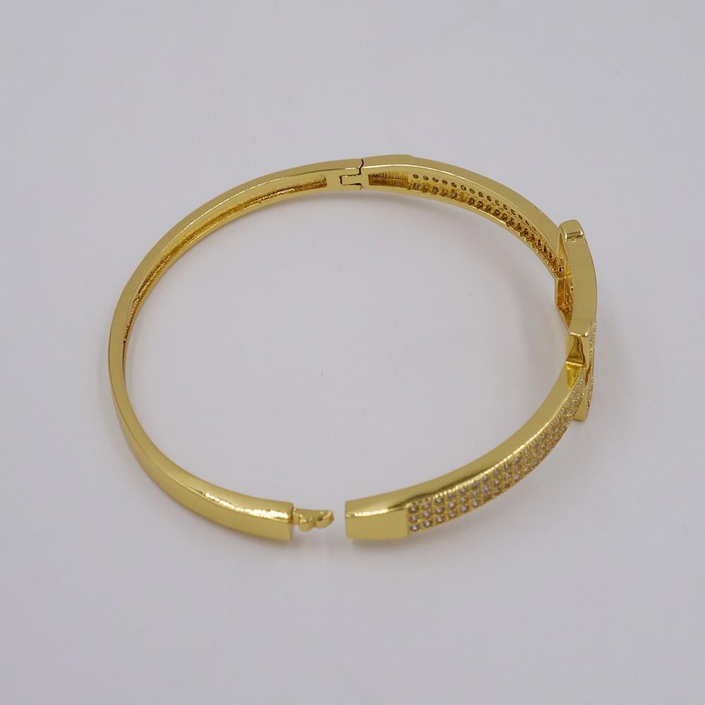 Браслет и браслеты для женщин позолоченные цирконий Простой Браслет Новый дизайн ювелирных изделий Бесплатная отправка