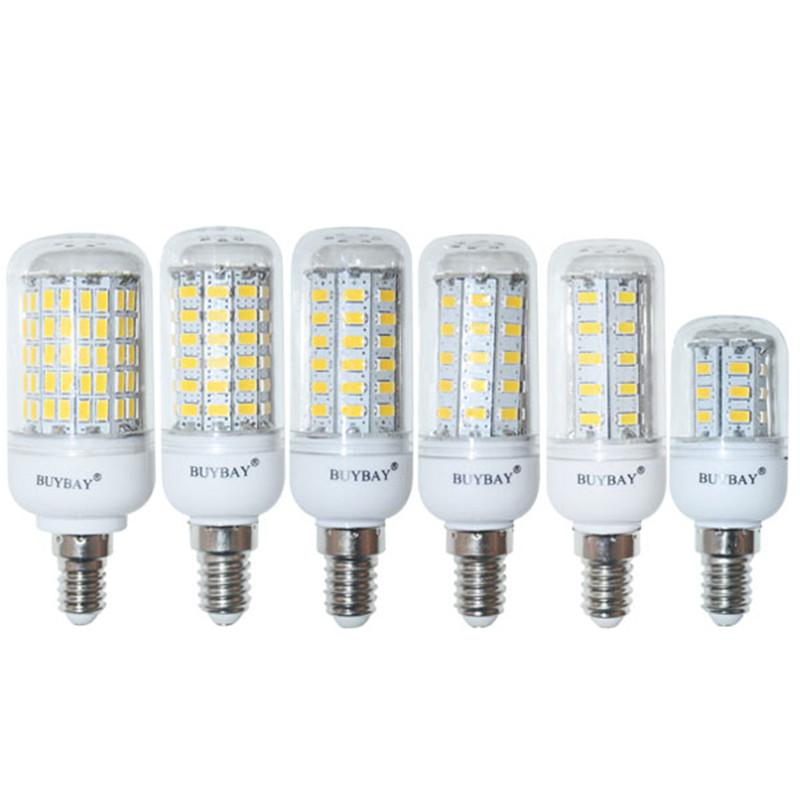 Гаджет  E14 220V/110V SMD5730 LED Bulb 9W 12W 15W 20W E14 LED corn lamp 24 LEDs 36LEDs 48LEDs 56LEDs,Warm white/white candlle light bulb None Свет и освещение