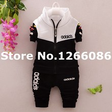 New Spring Autumn Wear Baby Boys and Girls Sports Clothing Sets Children Outerwear Coats Kids Jackets+Pants Tracksuit Clothes