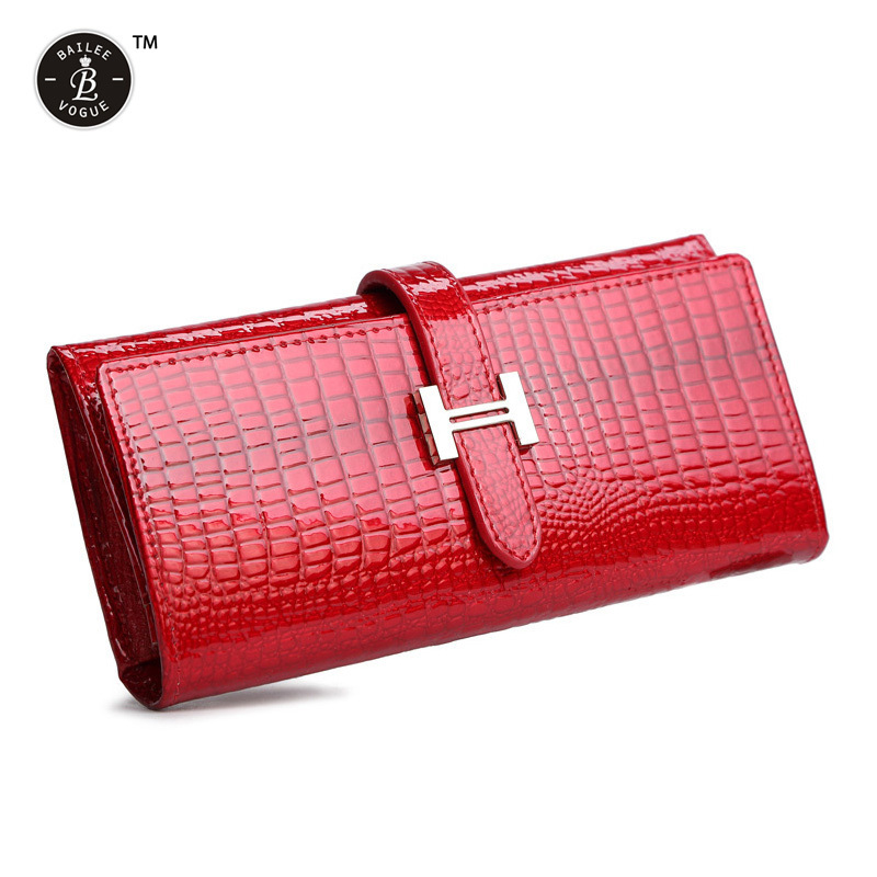 Wholesale High Quality European Patent Genuine Leather Women Wallets Alligator Charming Clutch Purse For Ladies Big Long Wallet(China (Mainland))