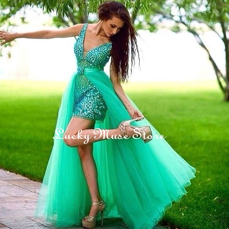 Online Get Cheap High Low Turquoise Prom Dresses -Aliexpress.com ...