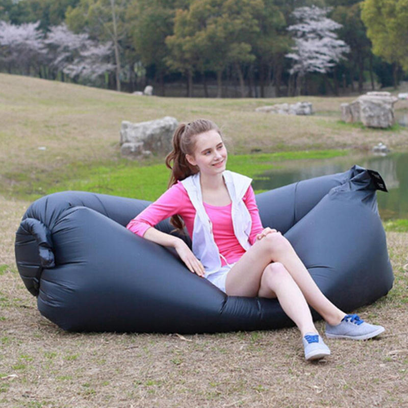 Fast Inflatable Camping Laybag Sofa Bed Portable Hangout Float Bean Bag Chair Sleeping Bag Hiking Travel Beach Outdoor Sofa Bed(China (Mainland))
