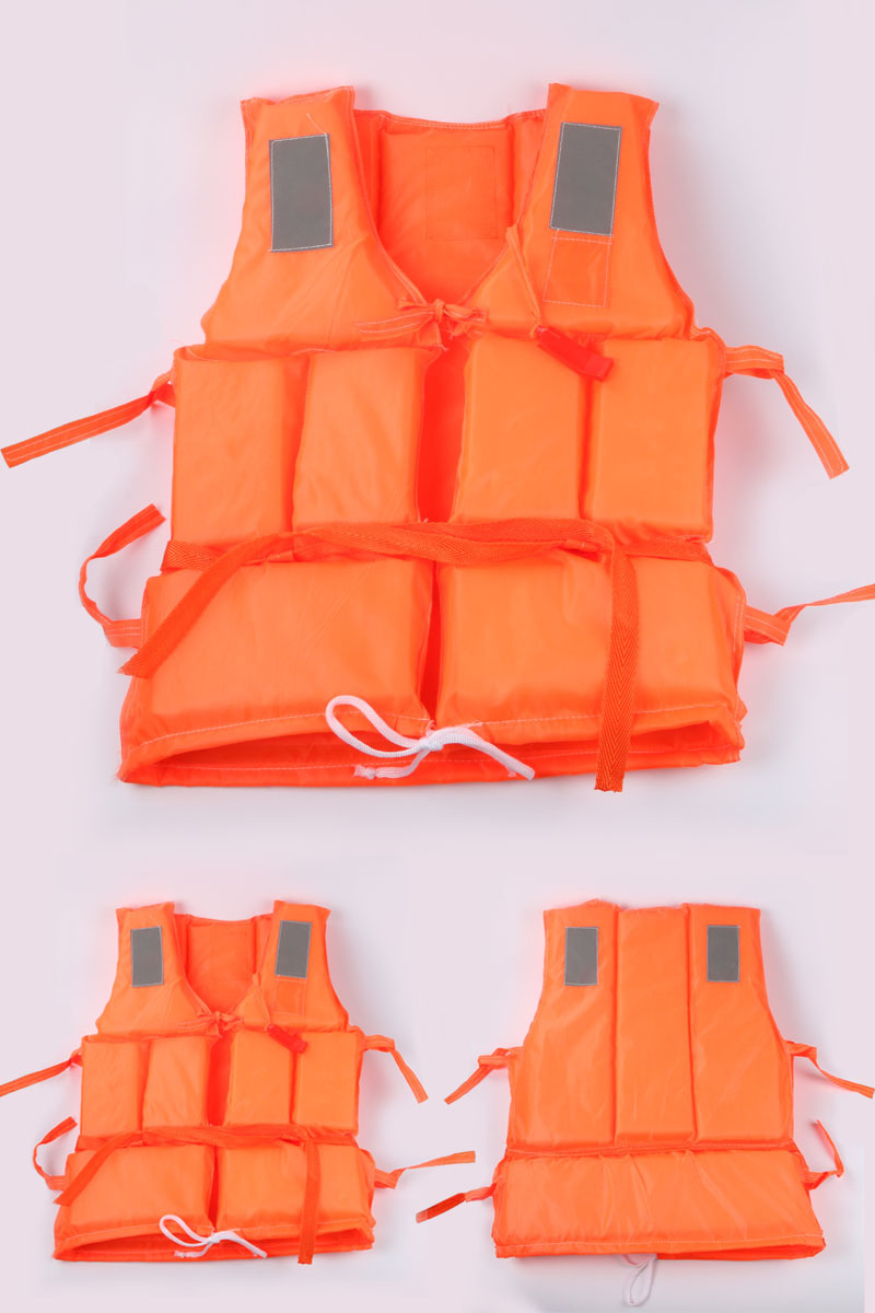 Adult Foam Flotation Swimming Life Jacket Vest With Whistle Boating Swimming Safety Life Jacket Water Safety Products Orange(China (Mainland))