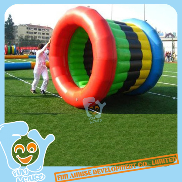 2.8m*2.5m Inflatable Roller Race Fun Sport Team Building Sport Outdoor Game(China (Mainland))