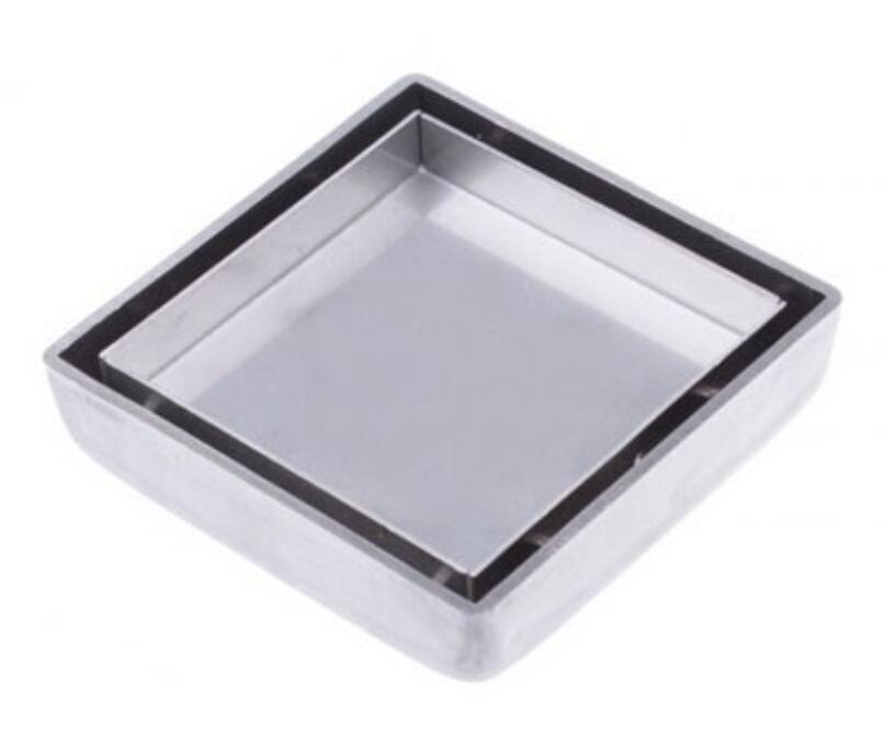 Гаджет  Free shipping 304 stainless steel Bathroom Bath 10cm Square Shower Floor Drainer Trap Waste Grate Strainer Cover DR007 None Строительство и Недвижимость