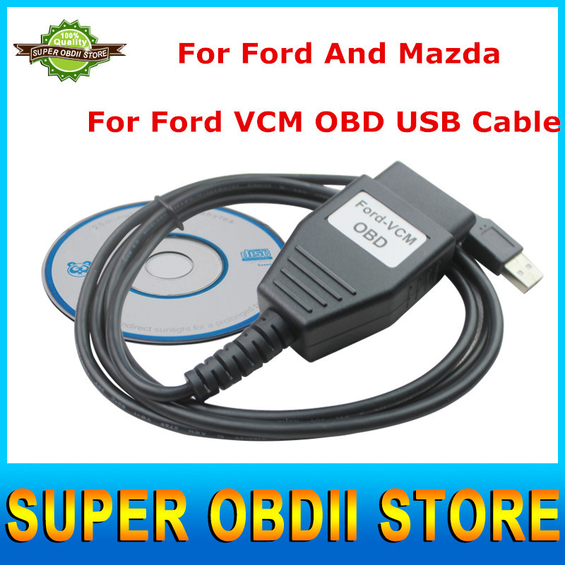 Top Selling Professional Diagnostic Interface VCM OBD For Ford VCM IDS Scan Tool Auto Diagnostic USB Cable Works For Ford/Mazda(China (Mainland))