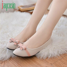 High quality Women Spring Bowknot Single Shoes Flat Leisure Sweet Darling Students Shoes 170224(China (Mainland))