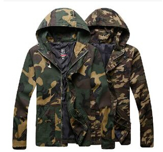 2015 winter Men's military jacket European American style tactical camouflage hooded outdoor army men - yixiaoerguo's store