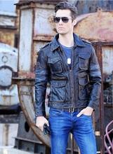 DHL shipping,Brand men leather jacket,motor mens cow genuine leather jackets,biker,motorcycle coat,vintage plus size(China (Mainland))