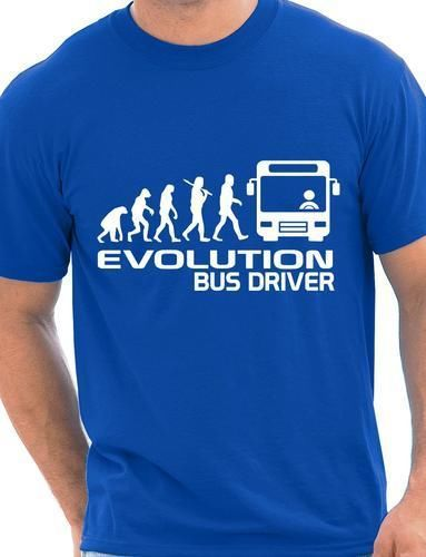 Evolution Of A Bus Driver Mens T-Shirt Gift Funny Tee Shirt Unisex More Size and Colors()