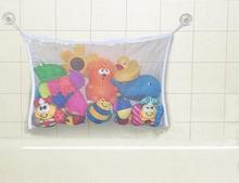 Top Sale 1pc/lot Kids Baby Bath Time Toys Storage Suction Bag Folding Hanging Mesh Net Bathroom Shower Toy Organiser LA675803(China (Mainland))