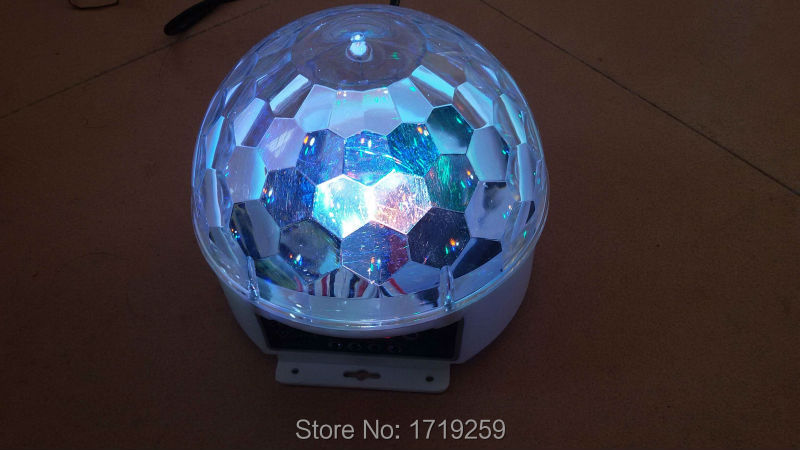 6x3w RGBWP LED Magic Ball Light DMX 6Channels DJ&Party Special No Noise(China (Mainland))