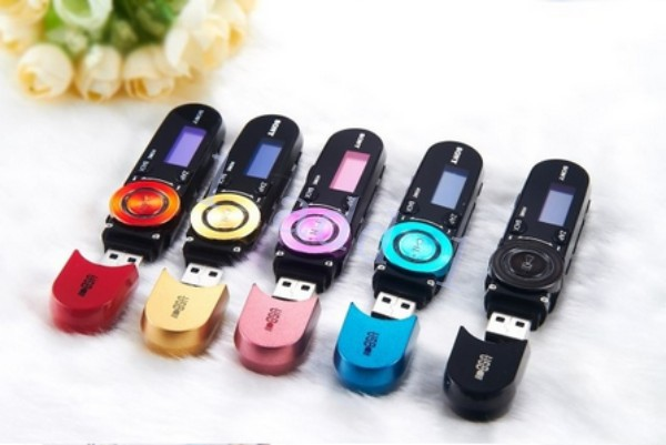 5pcs/lot USB Disk Sport Music Player Real 4gb Flash Clip MP3 Player With Screen+FM Radio+Recorder Free Shipping(China (Mainland))