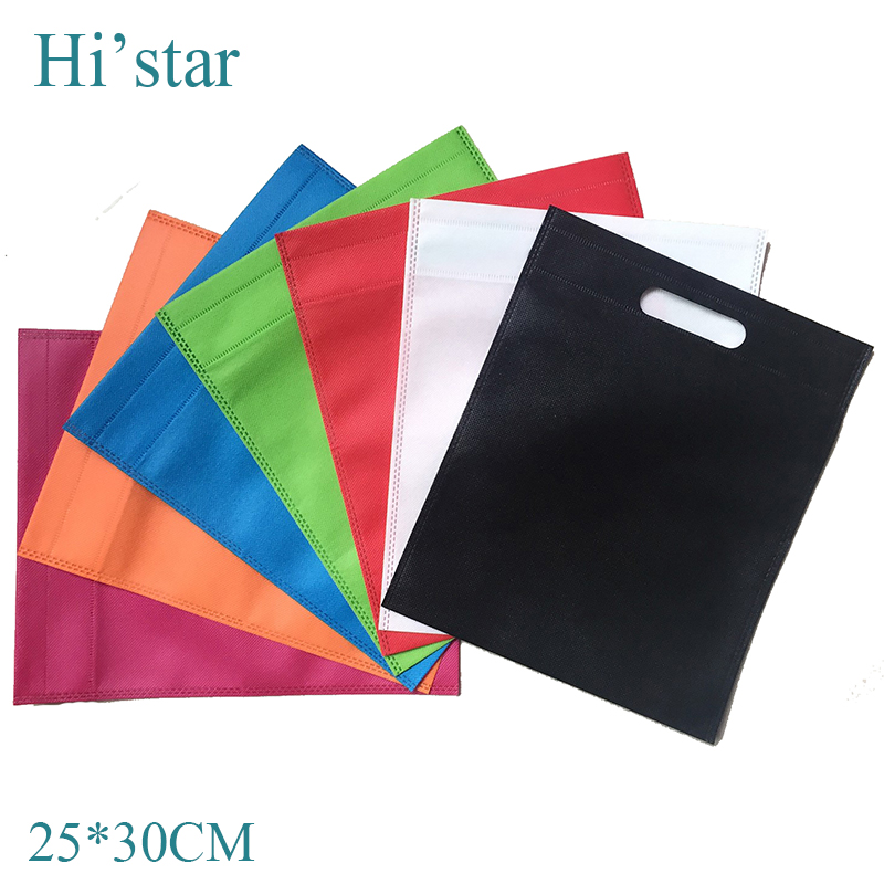25*30cm 20 pieces/lot non woven bag,recycle hand bag ,logo bag, shopping bag grip handle,charm in hands 2015 women messenger(China (Mainland))
