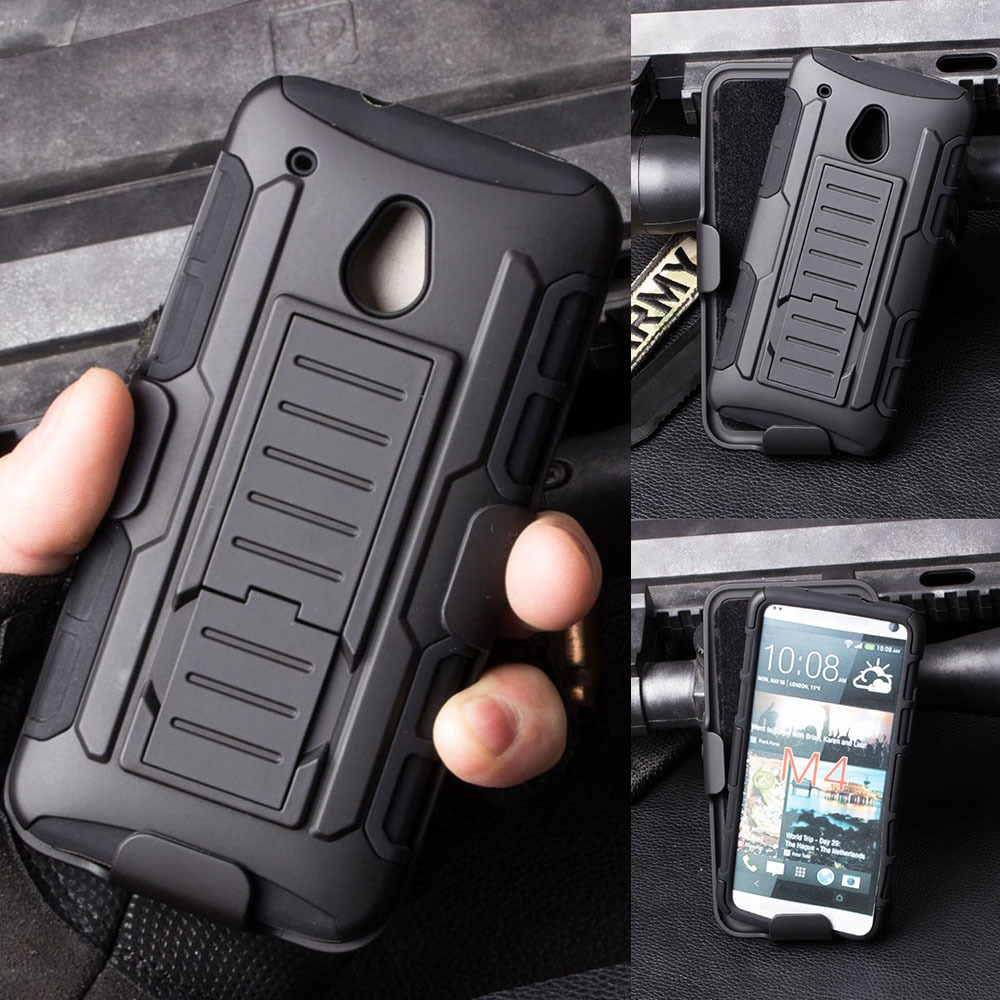 Armor Impact Holster Belt Clip Hard Case For HTC One Mini M4 601E M7 M8 M9 M10 Desire 510 626 Mobile Phone Shell Skin Cover(China (Mainland))