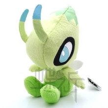 18cm Pokemon Crystal Version Celebi Runark Anime Plush Soft Toys Pokemon Doll Toy Stuffed Plush Classic Anime Free Shipping