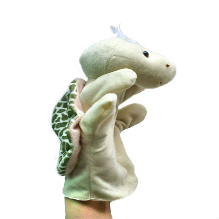 Free Shipping Hot Turtle Baby Child Children Cute Zoo Farm Animal Hand Sock Glove Puppet Finger Sack Plush Toy Gift Wholesale t(China (Mainland))