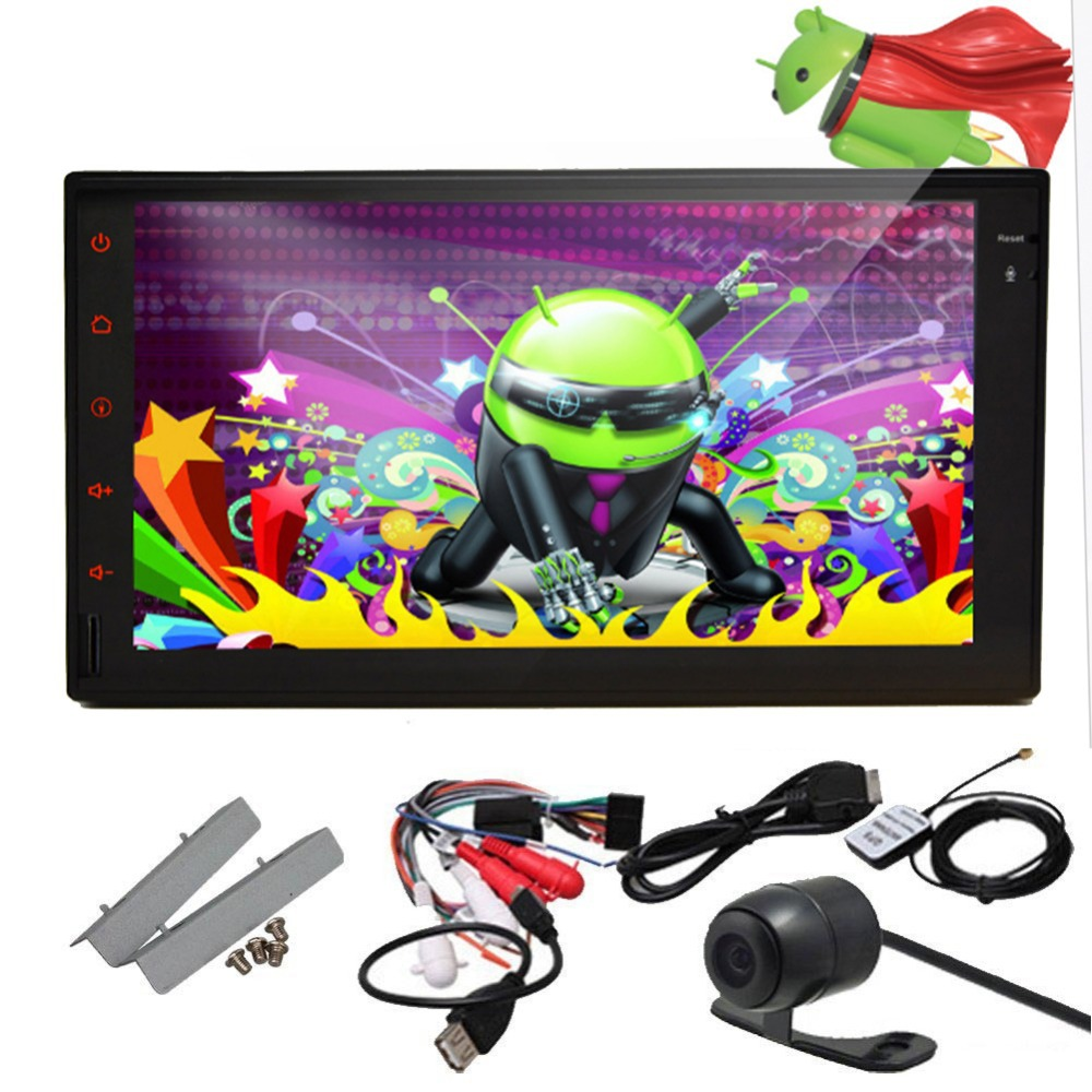 Double 2 Din Android 4.4 Car DVD Player Stereo GPS Navi SAT Bluetooth 3G WIFI Bluetooth Car PC FM/AM Radio +3G+car pc+stereo()