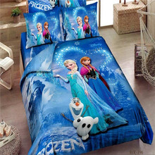 Promotion Brand Frozen Bedding Sets Elsa Anna Bedclothes Quilt Cover Bed line set Twin/Full/Queen/King Kids Bedding Bed Sheets(China (Mainland))