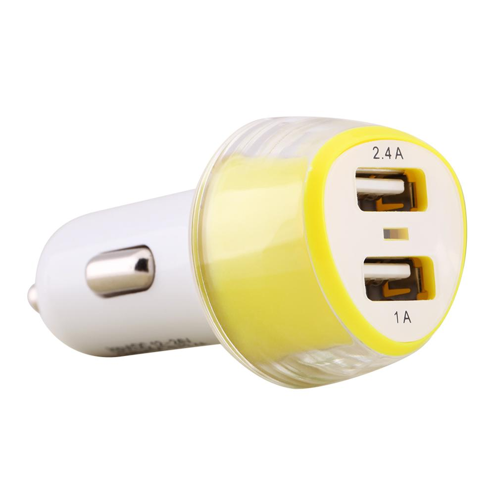 Original Nillkin Jelly Car Charger 2-in-1Double USB For iphone for Samsung and smart Mobile phones Car Chager free shipping(China (Mainland))