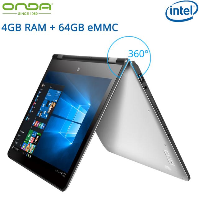 11.6 дюйма ультноутбук Onda oBook11 ноутбук Intel Cherry Trail 4 ГБ оперативной памяти 64 ГБ ROM 1920 x 1080 IPS экран Windows10 многоязычный