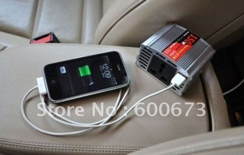 freeshipping,Car Power Converter Inverter Adapter with USB,150W,DC 12/24V to AC 220V,Car Power Inverter Adapter
