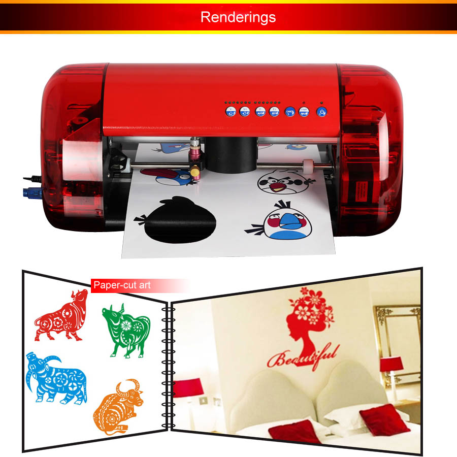 1pc Mini Vinyl Cutter Cutok DC240, PU PVC A4 Size Mini Desktop Portable Cutting Plotter Free shipping by DHL(China (Mainland))