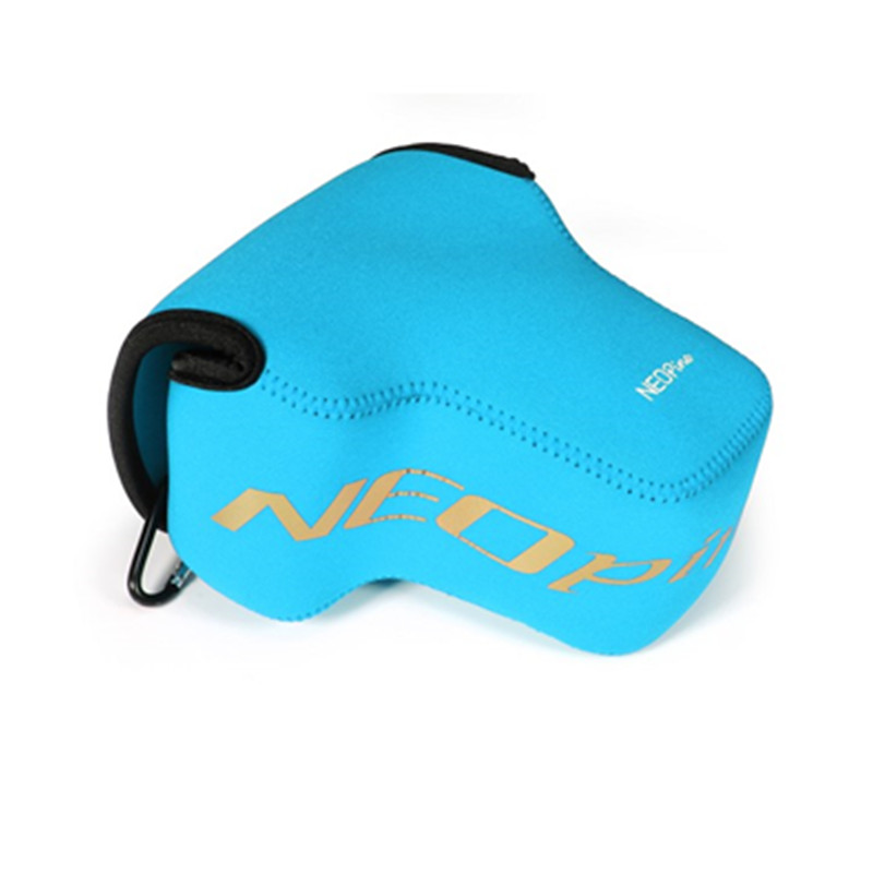 Black Blue Grey Red Neoprene Camera Lens Pouch Case with Hanging Buckle for Nik -on P900 DSLR Digital Camera(China (Mainland))