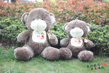 Free Shipping/ Large size Gray embroidered scarves teddy bear stuffed plush toys, 70cm animal plush toy/ lovers/birthday gift