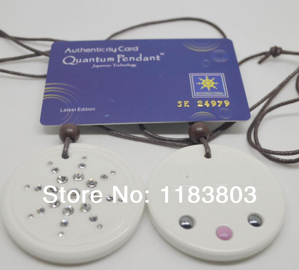 Free Shipping 10pcs/lot bio energy quantum science energy pendant white color cz stones energy pendant germanium pendant fir(China (Mainland))