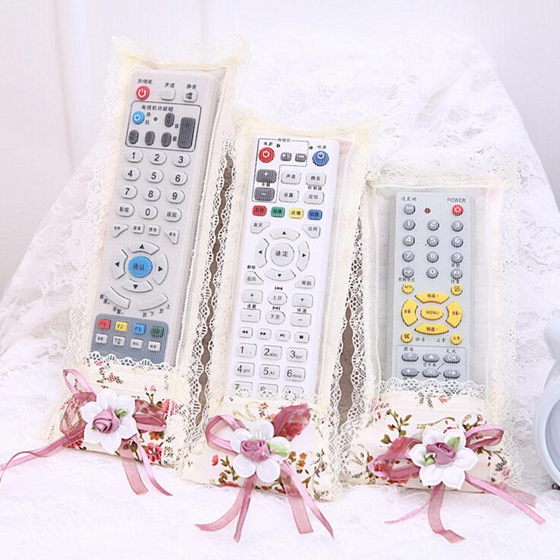 1PC Kawaii Flower Fabric Remote Control Cover Storage Bag Household Air Conditioning TV Protective Dust Cover jacket Accessories(China (Mainland))