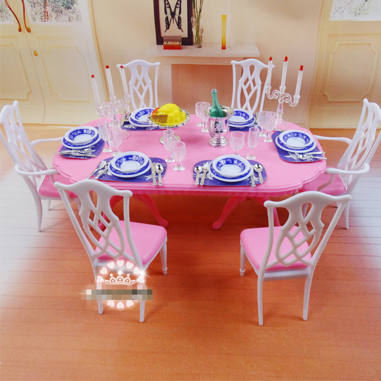 DIY Plastic Doll House Dollhouse Kitchen Dining Room  : DIY Plastic Doll House Dollhouse Kitchen Dining Room Furniture Dining Table Tableware Set Accessories for Barbies from www.aliexpress.com size 750 x 750 jpeg 542kB