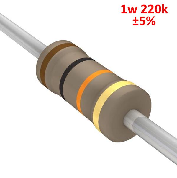 Резистор CY 220kOhm 1w 5% 100 CY-220k ve j60 cy