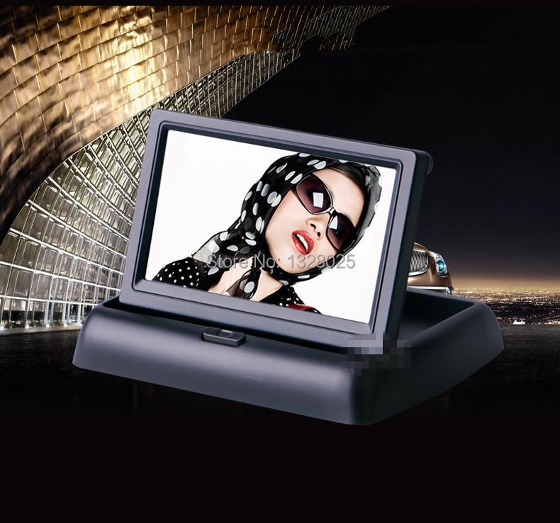 Free shipping 4.3 inches TFT LCD color display parking sensor video surveillance TV Car rearview backup reverse camera(China (Mainland))