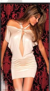 Cream colored ladies sexy halter mini short party dress, clubwear dress, fashion sheath club dress EMS free shipping