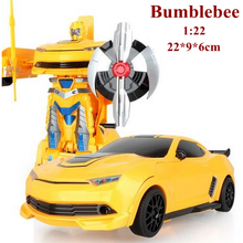 New 1:22 Bumblebee veneno remote control car poison Bee Bumble rc car transformation robot brinquedo juguetes action figure hot