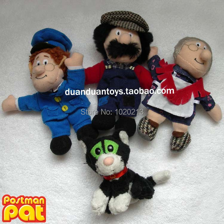 4pcs/lot Postman Pat Stroke and Purr Jess Plush Toys Mini Finger Plush Muppets 10cm(China (Mainland))