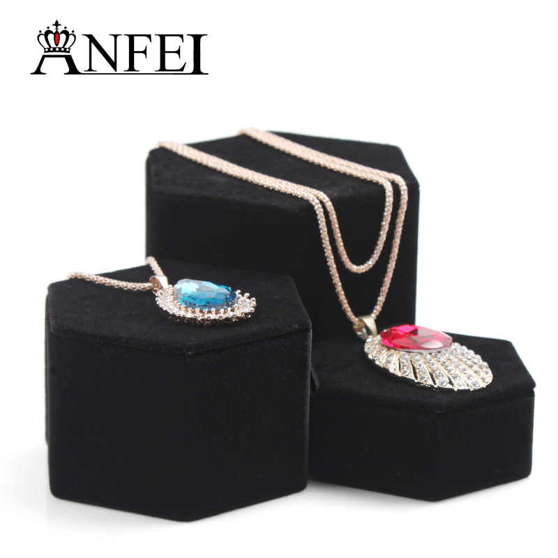 Free Shipping Jewelry Display Stand Necklace Display Shelf Jewelry Holder Necklace Holder Jewelry Black Velvet New Product(China (Mainland))