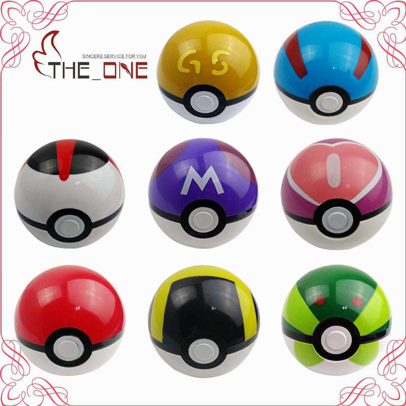 9 Styles 10.5 cm PVC Pokemon PokeBall Children Adult Anime Action Figure Toys Master Ultra Poke ball Collections Gifts P032(China (Mainland))