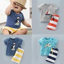 2016 New Children Clothing Boys Clothes Kids Summer Set Baby Clothing Shorts Pants Suit(China (Mainland))