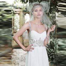 Buy 2017 Long Boho Vestido De Noiva Cheap Wedding Dresses Chiffon Sexy Beach Robe De Mariage Sleeveless Wedding Dress Bride Gown for $120.34 in AliExpress store