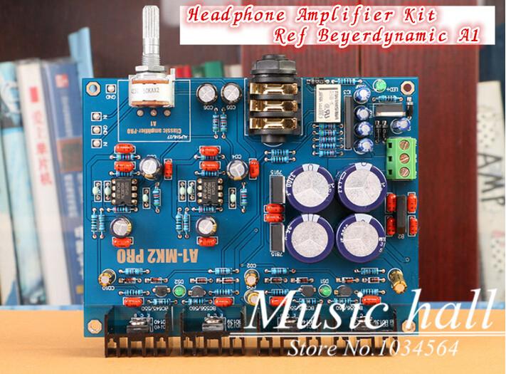 Music Hall MC33078 Headphone Amplifier Kit Ref Beyerdynamic A1 AMP for Audiophile HIFI DIY Free Shipping(China (Mainland))