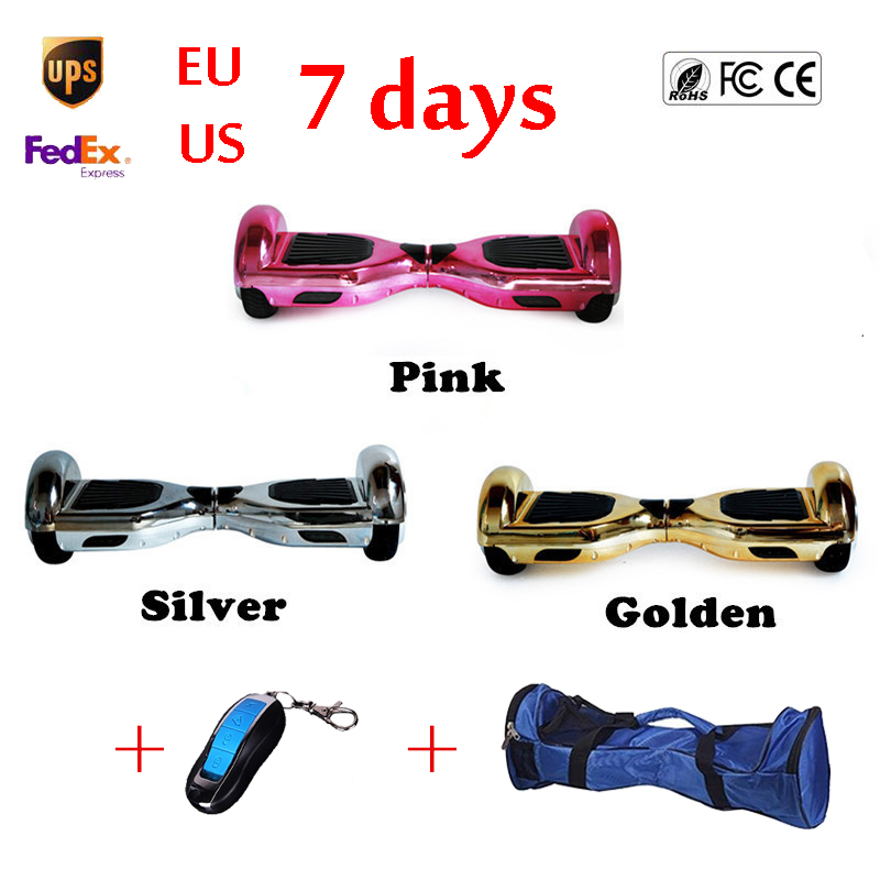 6.5 inch Chrome Hoverboard 2 Wheel Electric Standing Scooter Speedway Smart Balance Wheel Mini Skateboard Self Balancing Board(China (Mainland))