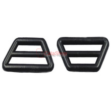 100 Pcs / Lot Plastic Adjuster Triangles Buckles With Bar Swivel Clip D Ring For Belts Backpacks Straps Leashes Black(China (Mainland))