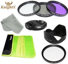 Star 8 points 8pt cross filter  CPL UV FLD  Lens Kit for Canon  Nikon Sony Digital Camera 58mm 52mm 67mm  lens KnightX X