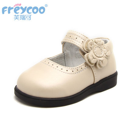 Freycoo for spring and autumn genuine leather child shoes soft and comfortable baby shoes princess style kids shoes 8035(China (Mainland))