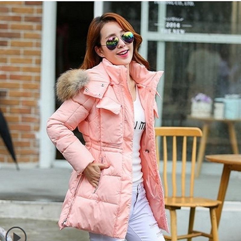 Фотография Plus Size Wadded Jacket Female Nice New Winter Jacket Women Long Slim Women