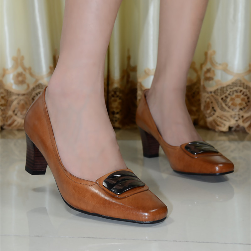 2014 New style Office Ladies High Heel Career Shoes Real Genuine Leather Woman Elegant office Shoes Women Simple Style  118-02<br><br>Aliexpress